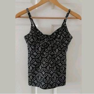 Lands' End Tankini Swimsuit Top Size 4L